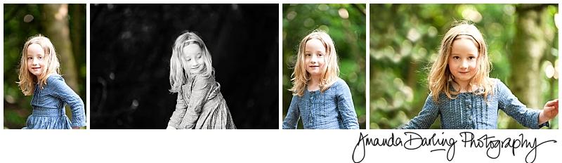 Twin girls waering blues by Surrey lifestyle photographer Amanda Darling