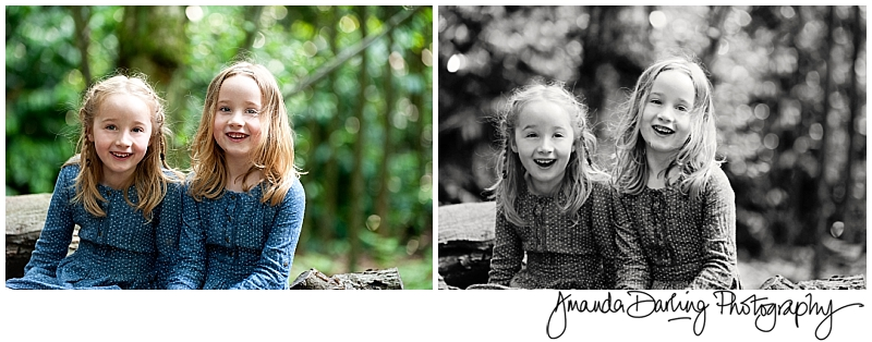 Realxed Family photograpy with laughing twin girls by Surrey family photographer Amanda Darling