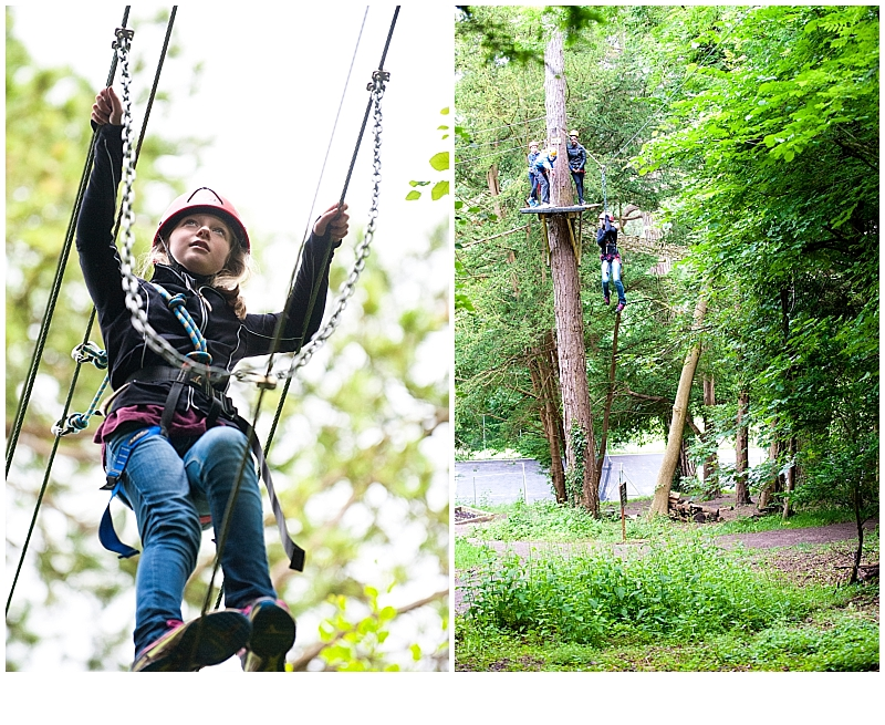 Surrey Family Photographer Amanda Darling's high ropes photp