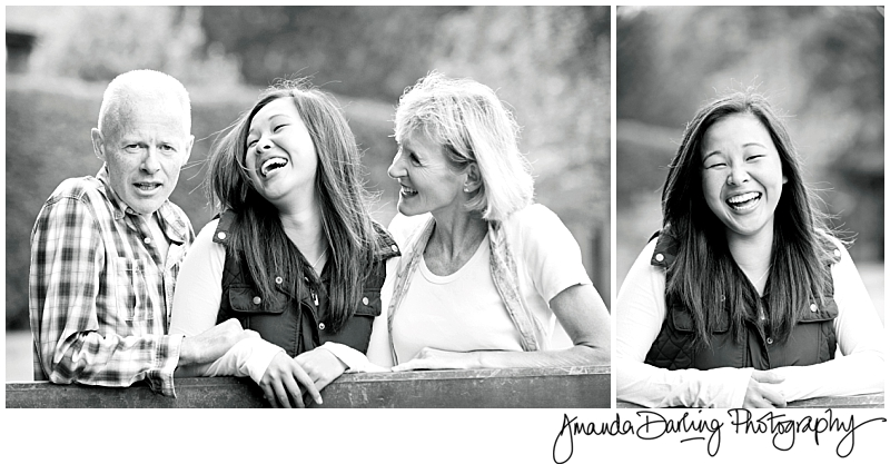Happy Family laughing by Surrey Family Photographer