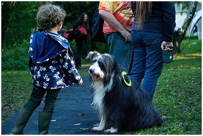 Boy and dog by Surrey Family Photographer Amanda Darling