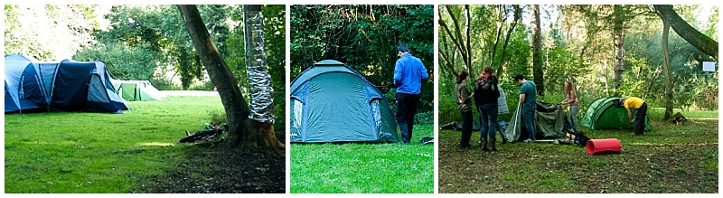 Pitching tents in the woods by Surrey Family Photographer Amanda Darling