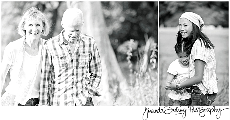 Parenst and children relaxing on a family photography session by Surrey Photographer Amanda Darling