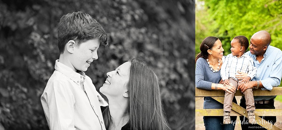 happy family photoshoot surrey