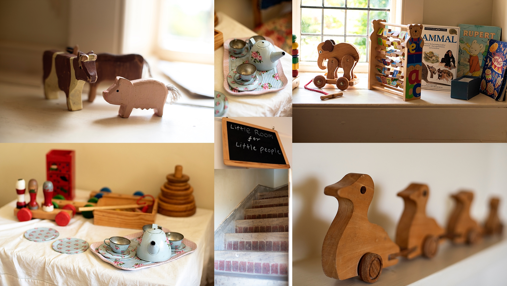 Phot of the little people's room Standen House toys and vintage toys